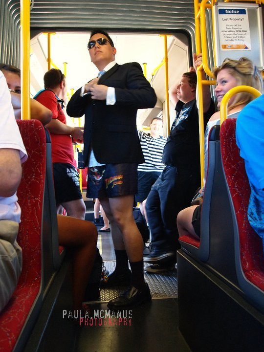 Adelaide Flashmob: No Pants Tram Ride 2011