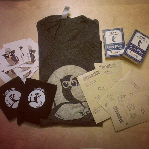 Just arrived! HootKits and giveaways for the Aussies!