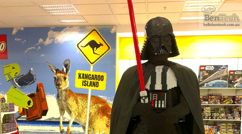 Lego Darth Vader and Kangaroo Island at Myer, Adelaide
